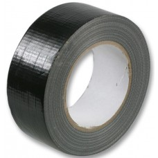 WATERPROOF CLOTH GAFFER TAPE BLACK 48MM